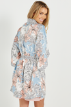 Kimono Gown, MOSAIC FLORAL