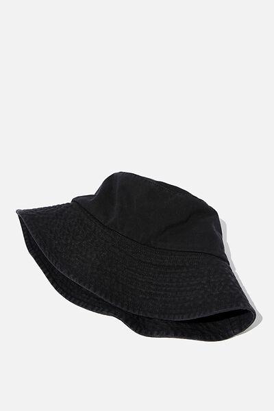 Bonnie Bucket Hat, WASHED BLACK