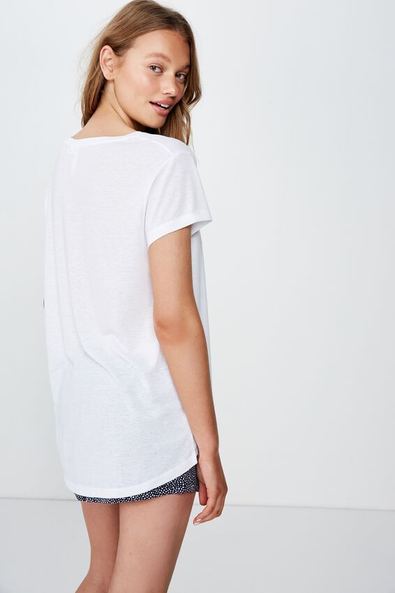 Dreamy Sleep T-Shirt, LCN WB WHITE/ BATGIRL
