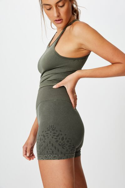 Crochet Seamless Short, WASHED KHAKI