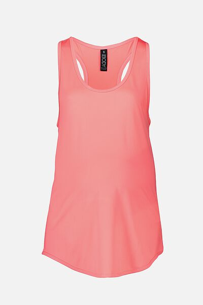 Maternity Training Tank Top, SUNKISSED CORAL