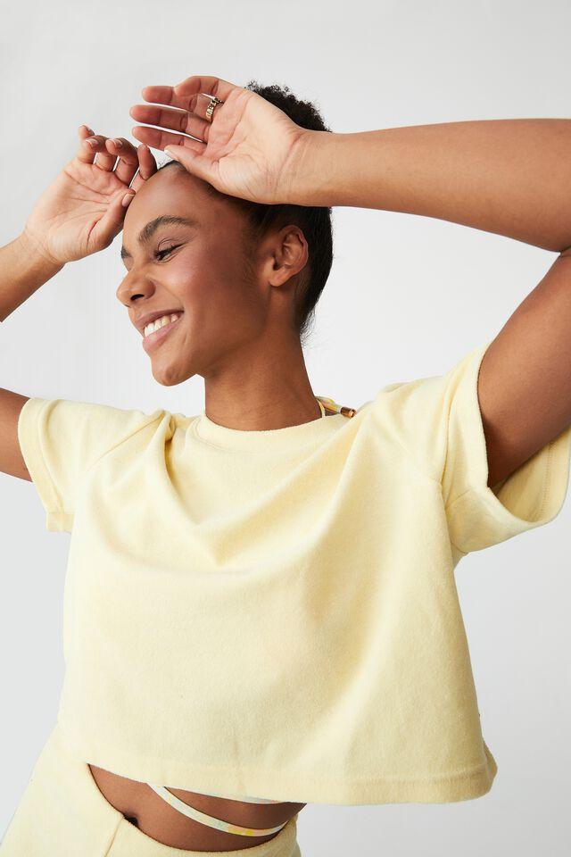 The Sweat To Swim T-Shirt, BUTTER POPCORN