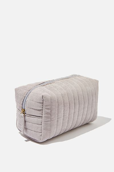 Marlee Cosmetic Case, GREY CORD
