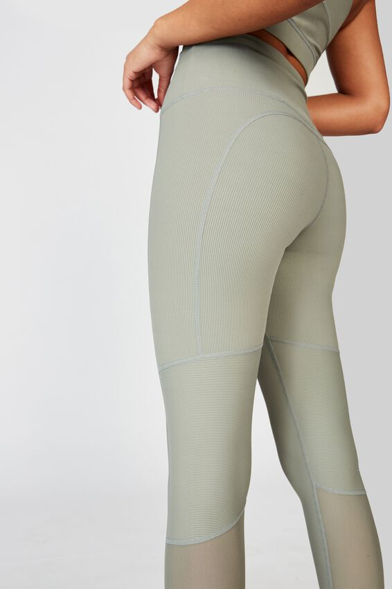 Workout Rib Mesh 7/8 Tight, STEELY SHADOW