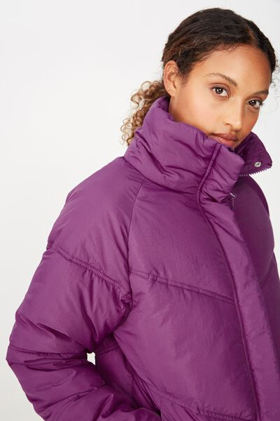 Hiking Puffer Jacket, EGGPLANT