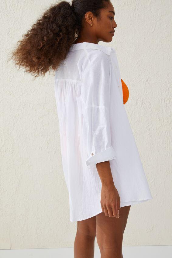 Swing Beach Shirt, WHITE