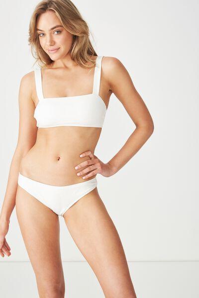 Romee Floral Full Bikini Bottom, CREAM JACQUARD