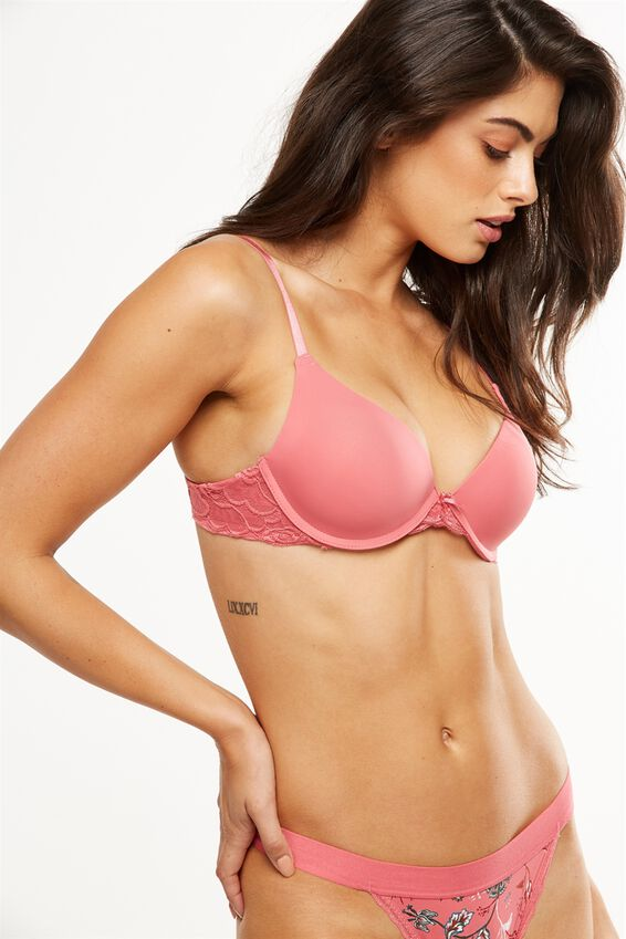 The Body Push Up Bra, ROSEY PINK