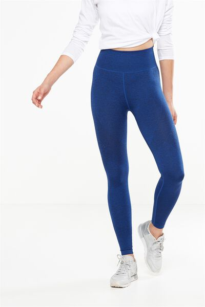 Seamfree Jaquard Tight, DARK INDIGO MARLE