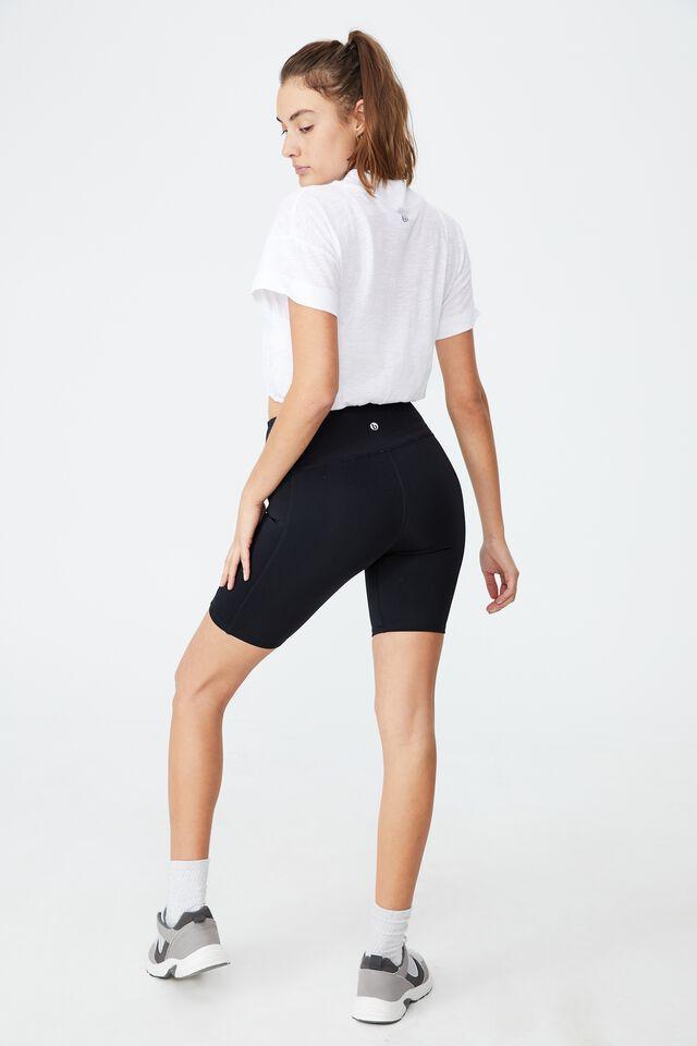 Lifestyle Mock Neck T-Shirt, WHITE
