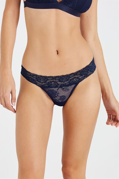 Sophia Lace G-String, MIDNIGHT (1)
