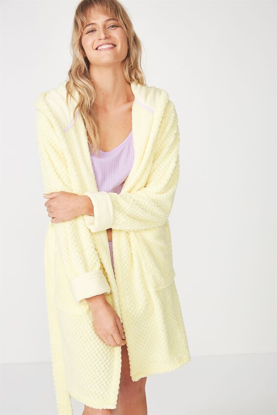Luxe Plush Gown, LEMONADE TEXTURED