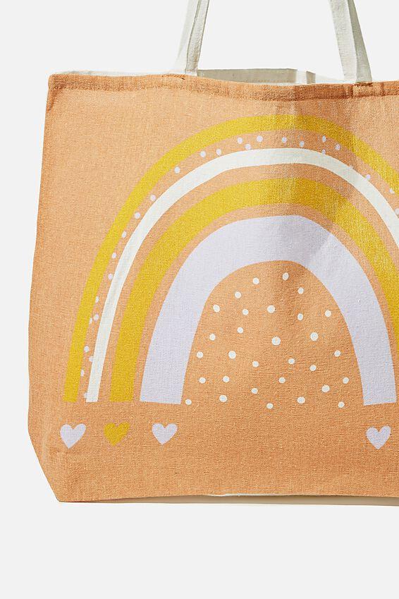 Foundation Kids Tote Bag, RAINBOW HEART