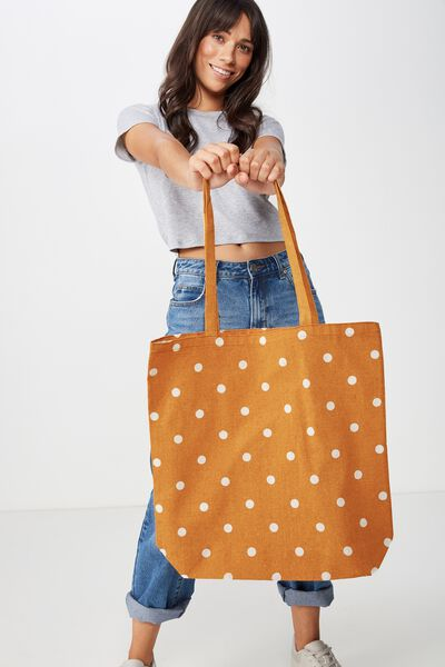 Foundation Online Exclusive Totes, BUTTERSCOTCH POLKA