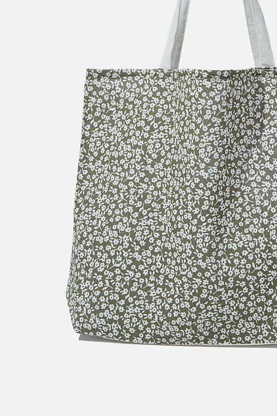 Foundation Body Tote Bag, FLORAL GREEN