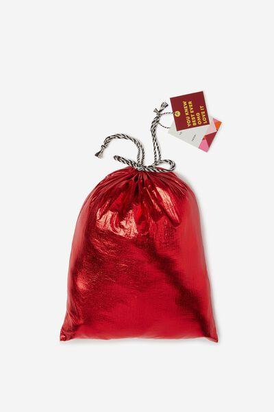 Cof Small Gift Bags, METALLIC RED