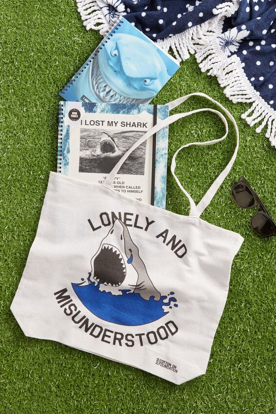 Typo Difference Tote Bag, LONELY AND MISUNDERSTOOD