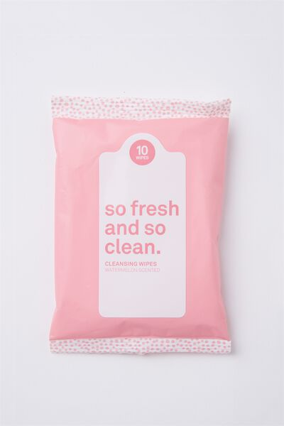 The 100% Difference Cleansing Wipes, WATERMELON/PINK