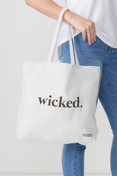Cotton On Foundation Tote, WICKED