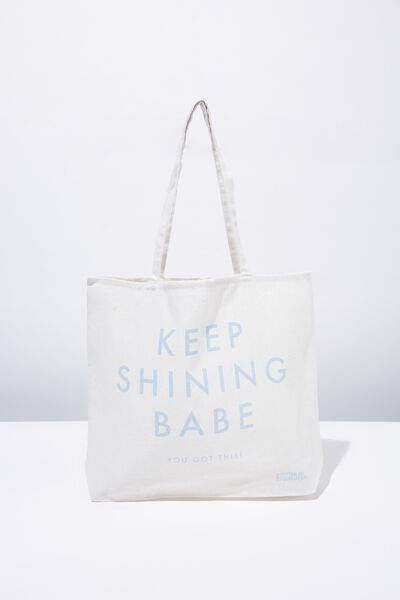 Foundation Tote Bag Adults, KEEP SHINING