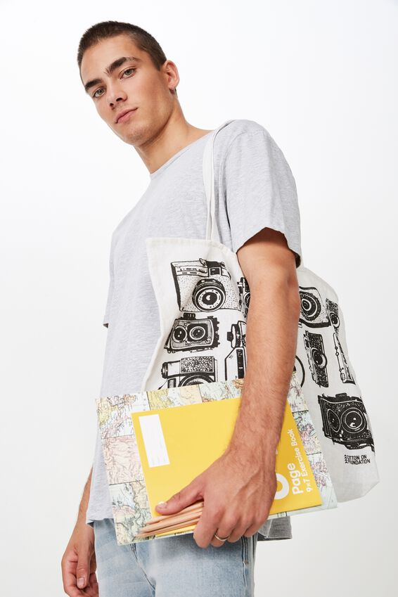 Typo Difference Tote Bag, CAMERAS