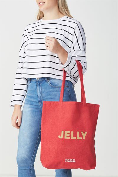 Cotton On Foundation Tote, JELLY