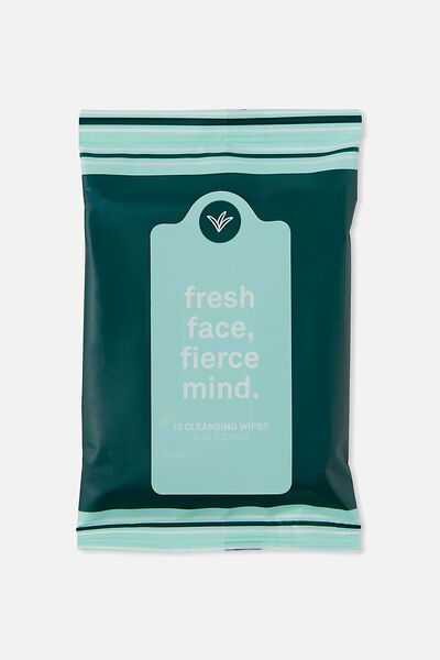 The 100% Difference Cleansing Wipes, LEAF GREEN /ALOE
