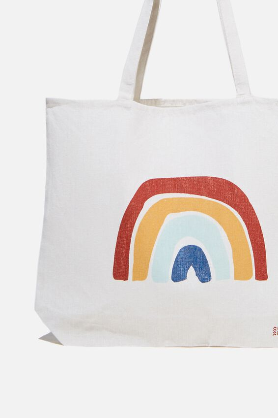 Foundation Co Brands Tote Bag, RAINBOW ICON