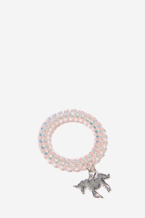 Coil Charm Bracelet, RAINBOW UNICORN