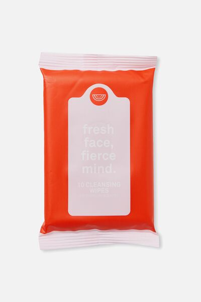 The 100% Difference Cleansing Wipes, MANDARIN RED & PEACH/WATERMELON