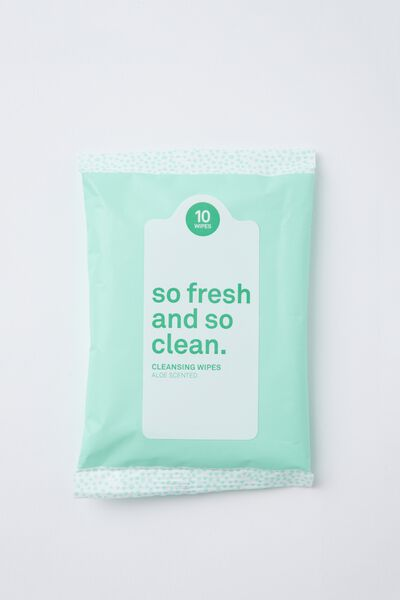 The 100% Difference Cleansing Wipes, ALOE/GREEN