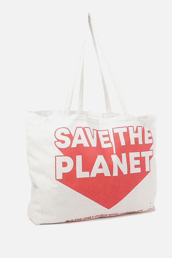 Typo Oversized Tote, SAVE THE PLANET