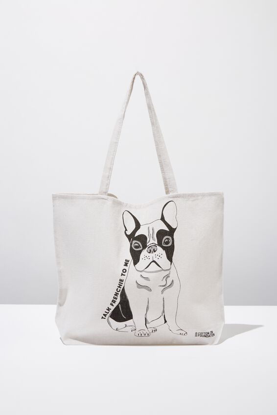 Typo Difference Tote Bag, TALK FRENCHIE TO ME