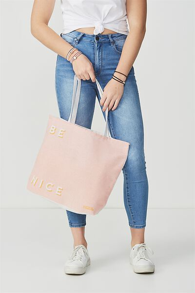 Body Tote Bag, BE NICE