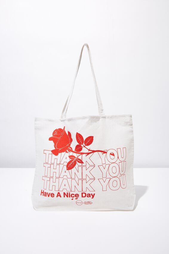 Pf Foundation Tote Bags, ROSES