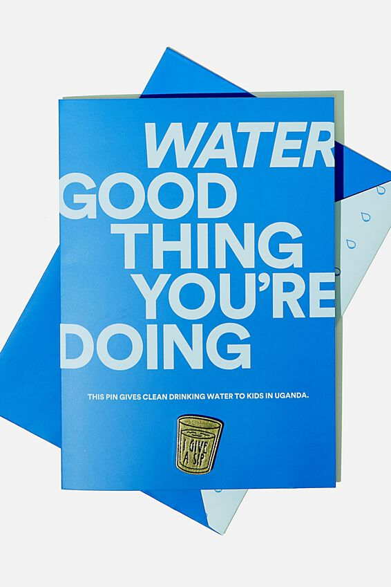 Pins That Give - Water, GIFTS THAT GIVE - WATER