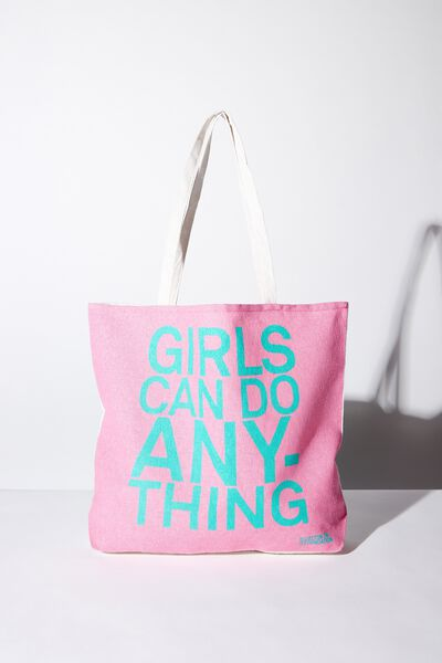 Foundation Kids Tote Bag, GIRLS CAN DO