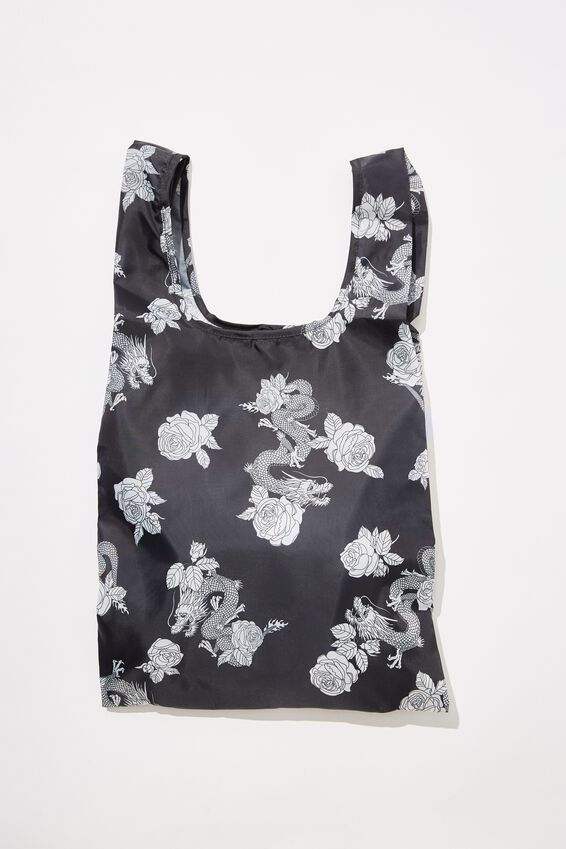 Pf Recycled Foldable Shopper, DRAGON ROSE