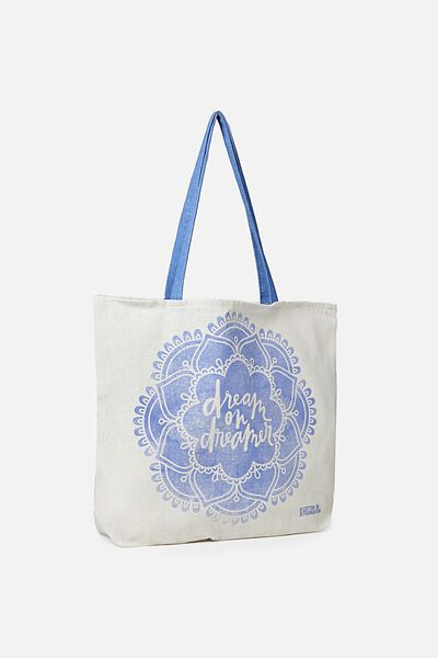 Typo Difference Tote Bag, DREAM ON DREAMER