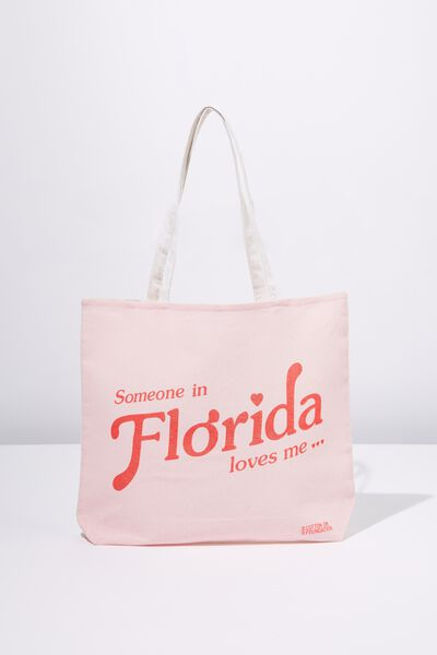 Cotton On Ladies Foundation Tote, FLORIDA