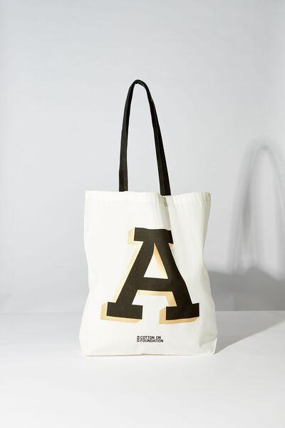Foil Alpha Tote, ALPHA A
