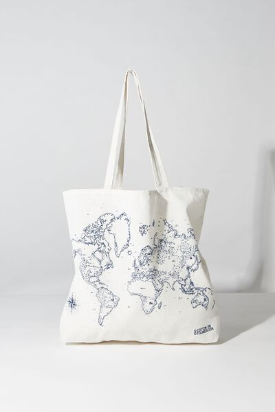 Typo Difference Tote Bag, WORLD MAP