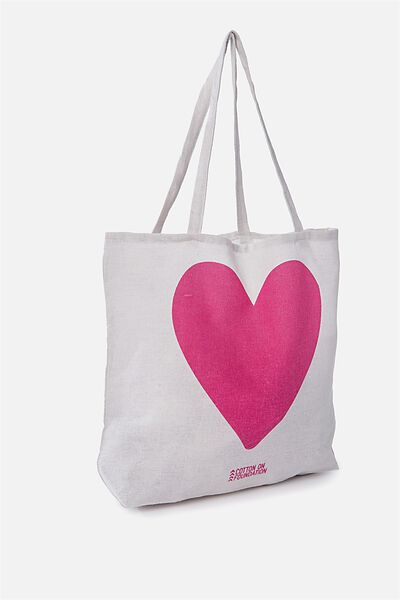 Cotton On Foundation Tote, HEART RSA