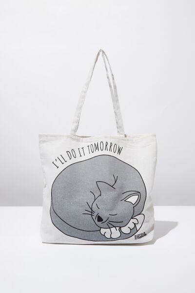 Typo Difference Tote Bag, I'LL DO IT TOMORROW