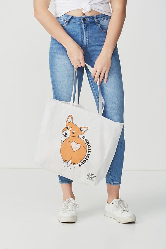 Typo Difference Tote Bag, CORGILICIOUS