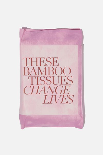 Supre Foundation Bamboo Tissues, BERRY TIE DYE