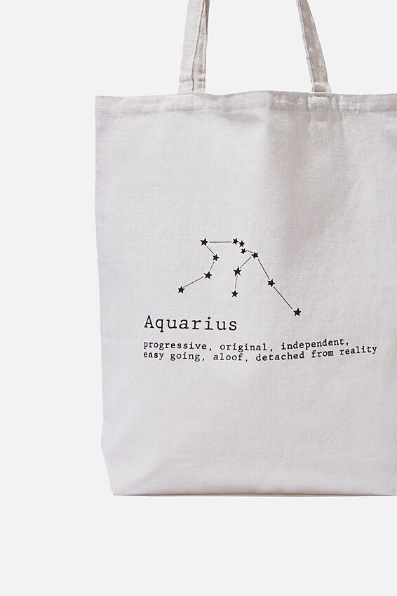 Foundation Online Exclusive Star Sign Tote, AQUARIUS