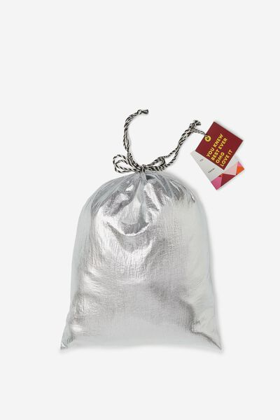 Cof Small Gift Bags, METALLIC SILVER