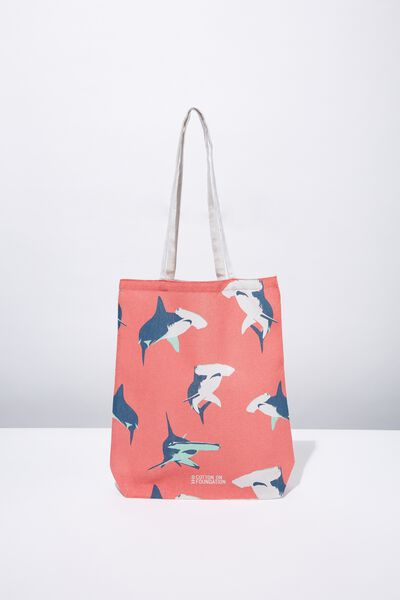 Cotton On Mens Foundation Tote, SHARK