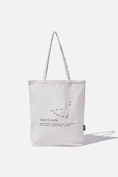 Cof Online Exclusive Star Sign Tote, CAPRICORN